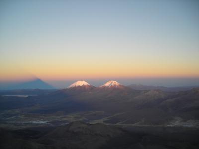 Climbing Pequeño Alpamayu,Huayna Potosí,Illimani, Parinacota, Sajama