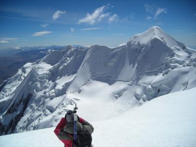 Illimani climbing in Bolivia